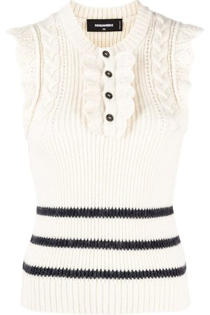Dsquared2 Ruffled sleeveless knitted top