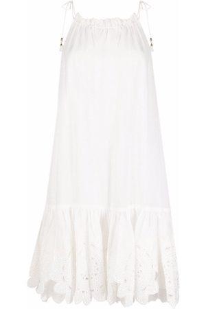 ZIMMERMANN Embroidered shift midi dress