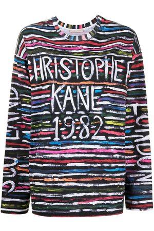 Christopher Kane Logo-print long-sleeve top