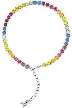Amina Muaddi Rainbow crystal-embellished anklet