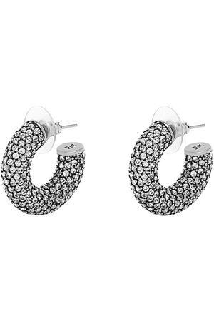 Amina Muaddi Small crystal-embellished hoop earrings