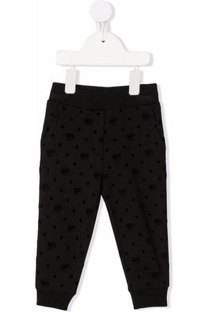 Chiara Ferragni Winking eye-motif track trousers