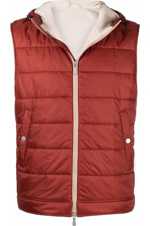 ELEVENTY Hooded quilted gilet