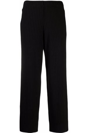 Vince Ribbed-knit cropped trousers