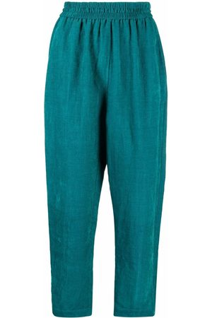 FORTE FORTE Cropped high-rise trousers