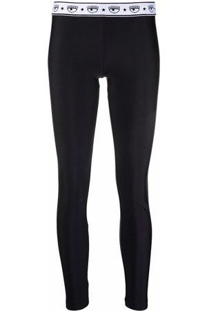 Chiara Ferragni Logomania high-shine leggings
