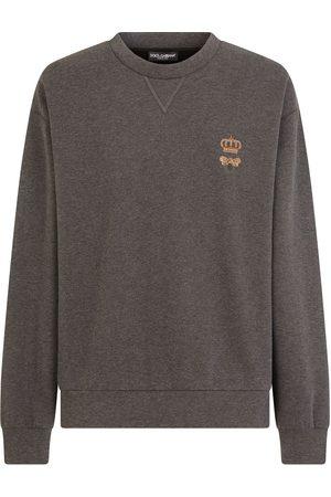 Dolce & Gabbana Bee-embroidered cotton-blend sweatshirt