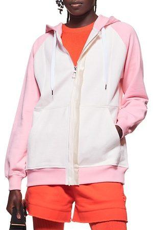AZ FACTORY Women Sweatshirts - Colorblocked Hoodie With Logo Print