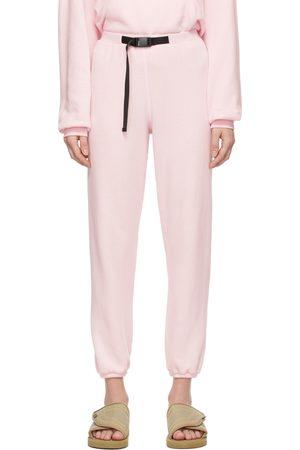 John Elliott Pink Vintage Fleece Belted Lounge Pants