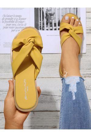 YOINS Twist Design Open Toe Slippers