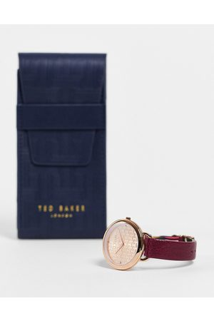 Ted Baker Men Watches - Stainless steel watch with leather strap