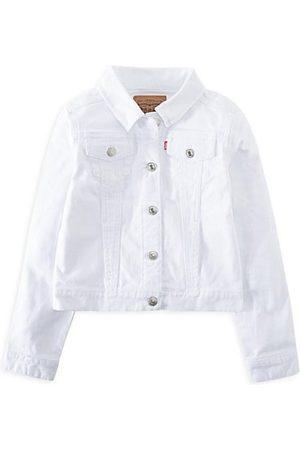 Levi's Girls Denim Jackets - Little Girl's Denim Trucker Jacket