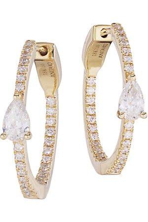 Anita 18K & Diamond Hoop Earrings