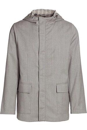 Saks Fifth Avenue Lightweight Wool Raincoat