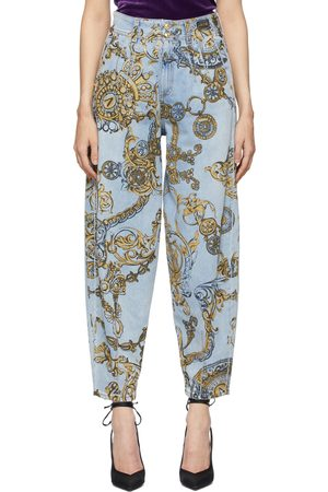 Versace Jeans Couture & Gold Regalia Baroque Print Tapered Jeans