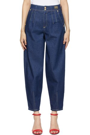 Versace Jeans Couture Navy Tapered Mom-Fit Jeans