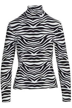 BruceGlen Zebra-Print Turtleneck