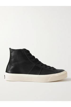 TOM FORD Cambridge Leather High-Top Sneakers