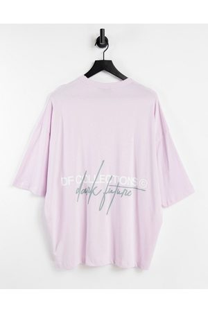 ASOS Oversized t-shirt in stone with back logo print