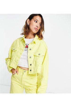 Reclaimed Women Denim Jackets - Inspired crop denim jacket in