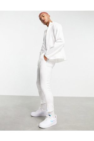 ASOS Men Sets - Co-ord smart tapered cropped trousers in high shine