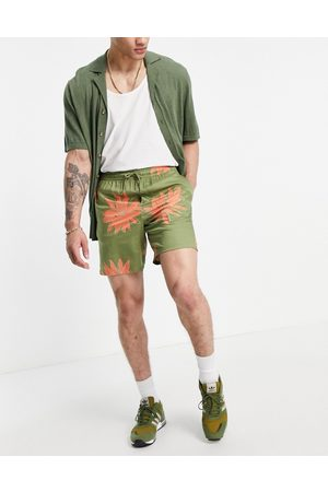 Only & Sons Co-ord drawstring shorts in flower print
