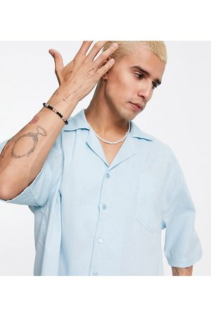 COLLUSION Revere shirt in pastel linen co ord