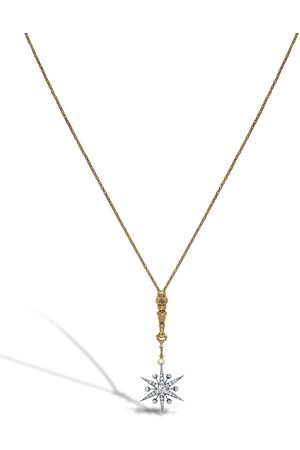 Pragnell 18kt yellow Victorian Star long pendant diamond necklace