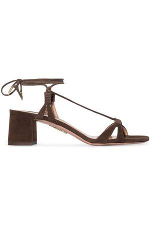 Aquazzura Sole 50mm suede sandals