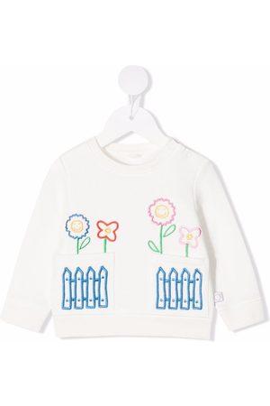 Stella McCartney Floral-embroidered organic cotton sweatshirt