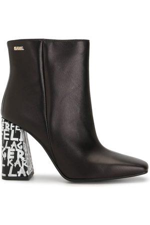 Karl Lagerfeld Metro Graffiti-heel ankle boots