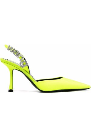 Alexander Wang Logo lettering pointed-toe pumps