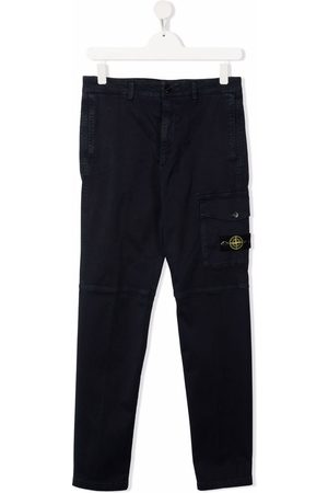 Stone Island TEEN panelled cargo trousers