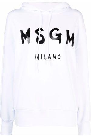 Msgm Logo-print cotton hoodie