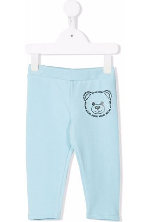 Moschino Boys Trousers - Teddy bear-print tracksuit bottoms