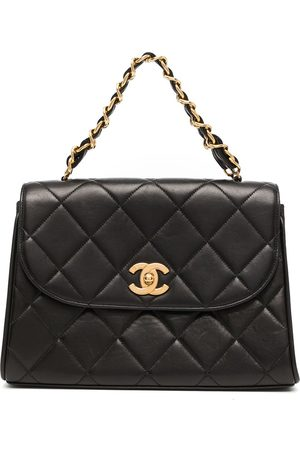 CHANEL 1995 diamond quilted flap tote bag