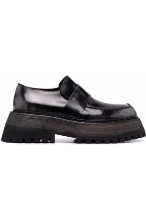 MARSÈLL Chunky-sole leather loafers