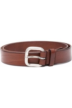 Anderson's Cracked-effect leather belt