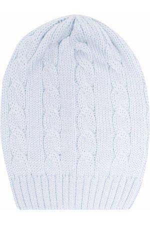 LITTLE BEAR Cable-knit virgin wool beanie