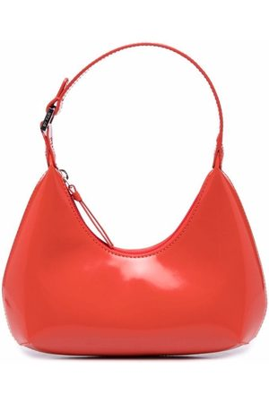 By Far Mini Amber patent-leather bag