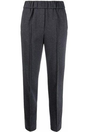 PESERICO SIGN Slim-cut elasticated trousers