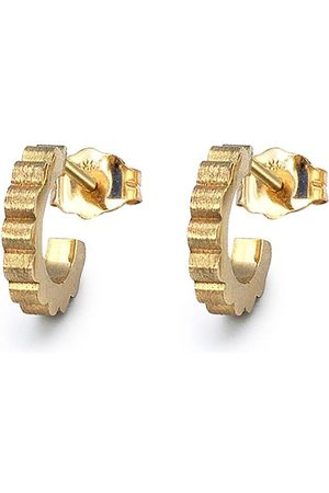 FLORA BHATTACHARY 14kt recycled yellow Shakti Devani hoop earrings