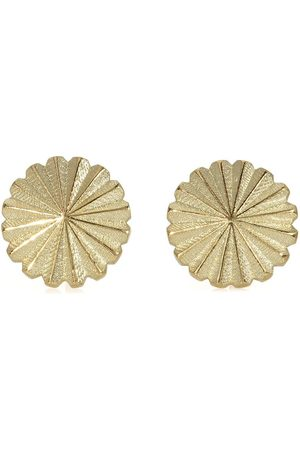 FLORA BHATTACHARY Women Necklaces - 14kt recycled yellow Surya radial stud earrings