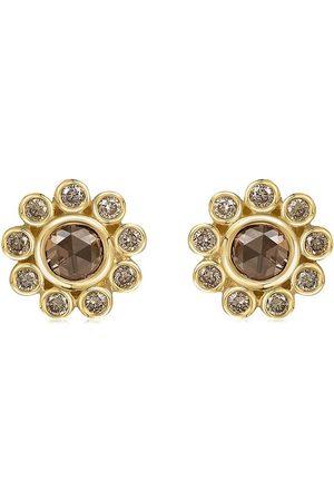 FLORA BHATTACHARY 14kt recycled yellow Aditi diamond stud earrings