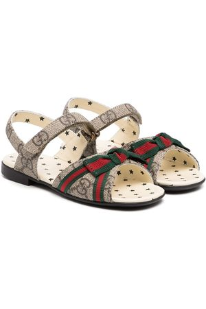 Gucci Girls Sandals - Web-bow touch strap sandals