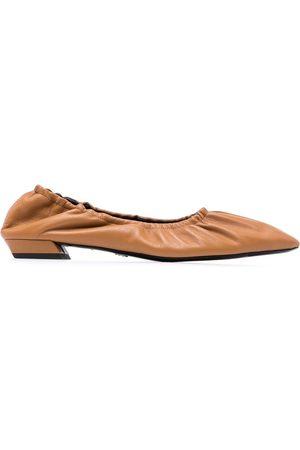 Proenza Schouler Ruched low-heel ballerina shoes