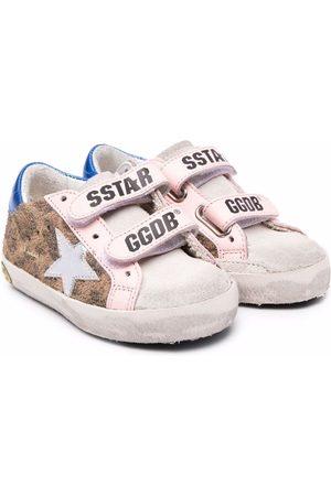 Golden Goose Kids Superstar leopard-print trainers