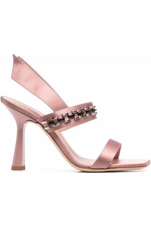 Alberta Ferretti Beaded slingback sandals