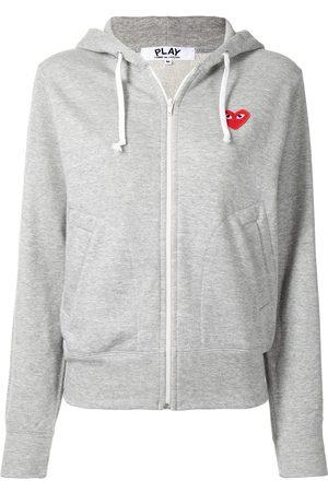 Comme des Garçons Heart-appliqué zipped hoodie