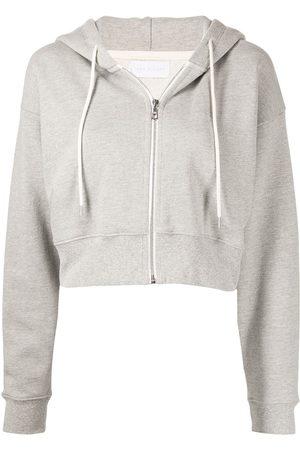 JOHN ELLIOTT Boca cropped zip-front hoodie